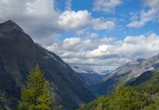 Mountains around Gorner Glacier, Switzerland.  royalty free stock photo