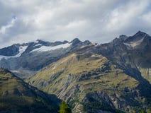 Mountains around Gorner Glacier, Switzerland.  royalty free stock photos