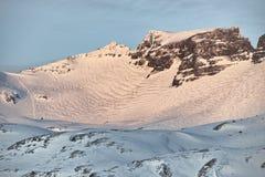 Mountains around Grundarfjordur, Iceland. The mountains surrounding Grundarfjordur, Iceland royalty free stock photography