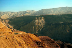 Mountains around Hammamat Ma`in, Jordan Royalty Free Stock Images