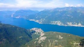 Mountains around Lake Como royalty free stock photos