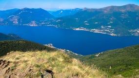 Mountains around Lake Como royalty free stock photography