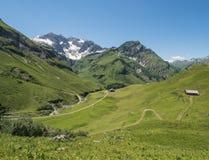 Mountains around the village Schroecken Royalty Free Stock Photography