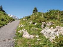 Mountains around the village Schroecken Stock Photos