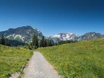 Mountains around the village Schroecken Royalty Free Stock Image