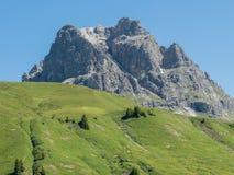 Mountains around the village Schroecken Stock Image