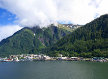 Mountains as backdrop to Alaska state capital Royalty Free Stock Photography