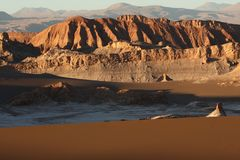 Mountains of the Atacama desert in Chile stock photography