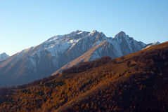 Mountains in autumn Royalty Free Stock Photos