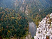 Mountains in autumn. Forest in autumn, Pieniny Mts., Poland Stock Photos