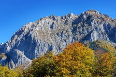 Mountains in the autumn in Bosnia and Herzegovina Stock Photography