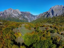 Mountains in the autumn in Bosnia and Herzegovina Royalty Free Stock Photos