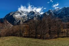 Mountains in the autumn in Bosnia and Herzegovina Royalty Free Stock Photo