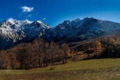 Mountains in the autumn in Bosnia and Herzegovina Royalty Free Stock Images