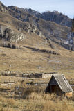 Mountains. Autumn country village in mountains Royalty Free Stock Photography