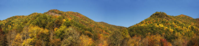 Mountains in Autumn Panorama Royalty Free Stock Photo