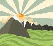 Mountains background Royalty Free Stock Photo