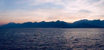 Mountains background in Antalya, Turkey Stock Photo