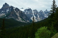 Mountains of Banff Alberta,Canada. Royalty Free Stock Photo