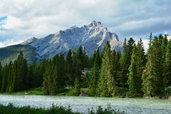Mountains of Banff Alberta,Canada. Royalty Free Stock Images