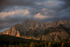 Mountains in Banff. Alberta National Park, Canada Royalty Free Stock Photo