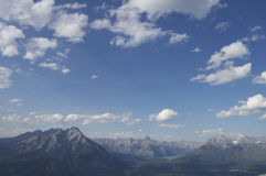 Mountains of Banff. Mountains surrounding the town of Banff Royalty Free Stock Photos
