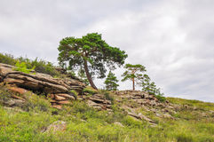 Mountains in bayanaul. National park in the republic of kazakhstan, located in the south of pavlodar bayanaul area, near the town of ekibastuz, on the outskirts royalty free stock image