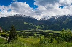 Mountains. Beautiful Austrian mountains and small village Stock Images
