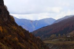 Military-Georgian road. Beginning. 2 royalty free stock image