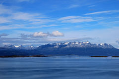 Mountains behind the beagle channel, Ushuaia, Argentina Stock Image