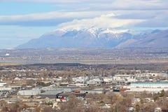 North Salt Lake, Utah. Mountains behind North Salt Lake City, Utah Stock Photography