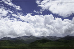 Mountains beneath the heavens Royalty Free Stock Photography