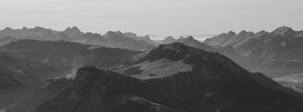 Mountains in the Bernese Oberland Stock Photos