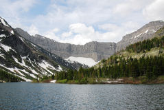 Mountains and bertha lake Stock Photography