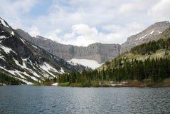 mountains and bertha lake Stock Photography