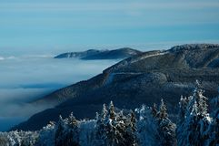Mountains in beskydy. View of vertices mountains Beskyd in Czech  republic Royalty Free Stock Image