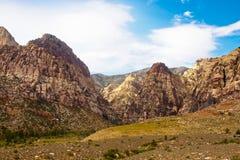 Mountains Beyond Green Desert Stock Image