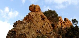 Mountains. A big stone is on a mountain of kurdistan stock image