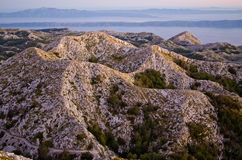 Mountains of Biokovo national park in Croatia Stock Images