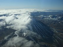 Mountains. From the bird's eye panorama Royalty Free Stock Images