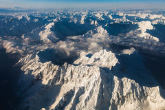 Mountains. Bird's eye view of mountains in Tibet, China Royalty Free Stock Photos