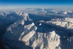 Mountains. Bird's eye view of mountains in Tibet, China Stock Photos