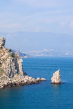 Mountains and the black sea stock photo