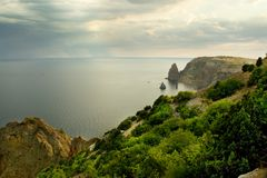 Mountains and Black Sea Stock Photos