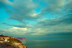 Mountains and Black Sea Royalty Free Stock Images
