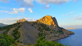 Mountains and the black sea Royalty Free Stock Image