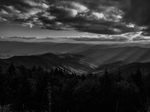 Mountains in black and White Royalty Free Stock Images