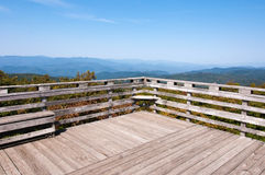 Mountains, blue sky, Chattahoochee National Forest Royalty Free Stock Photos