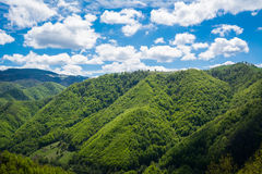Mountains and blue sky landscape Stock Photos