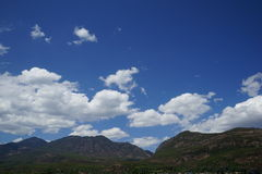 Mountains and blue sky. Taken near Lijiang and Lashi lake Royalty Free Stock Image